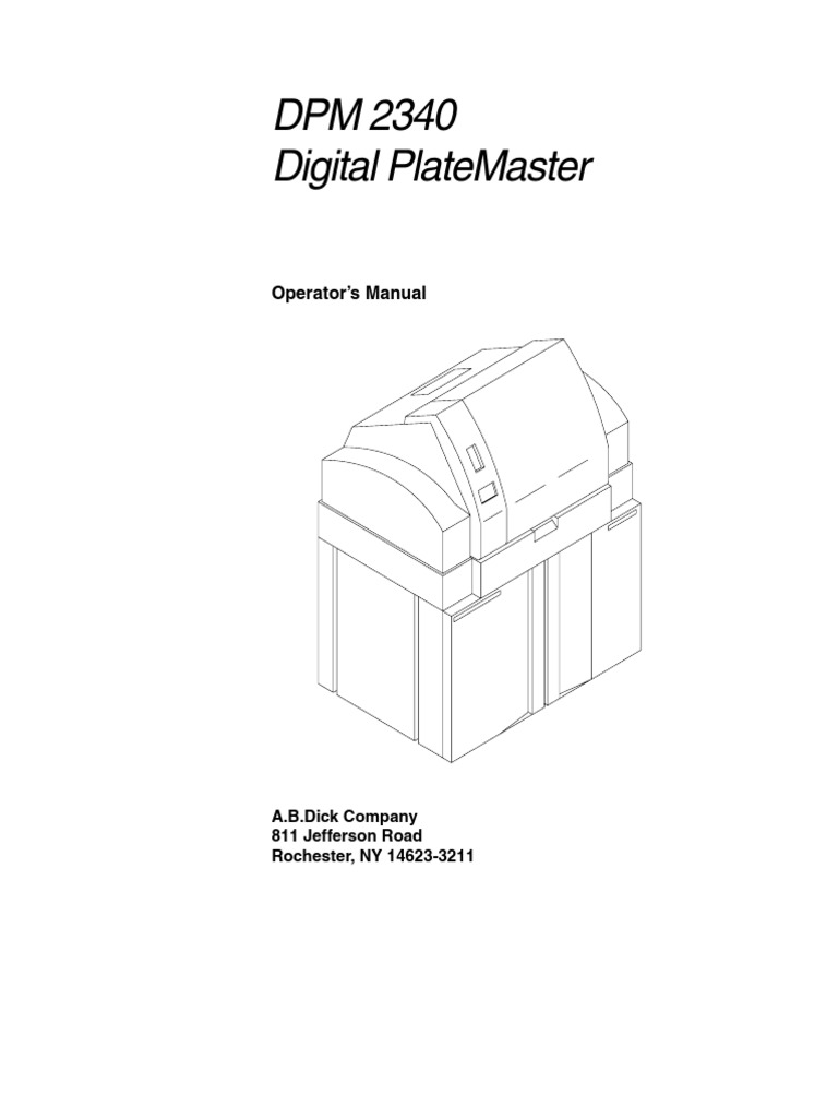 Dpm 2340 digital platemaster pdf.