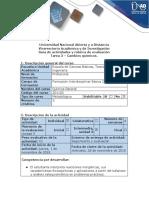 Guía de Actividades y Rúbrica de Evaluación - Tarea 3 - Cambios Químicos