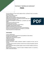 EJEMPLO DE  FODA  EMPRESARIAL  ( De Servicios )