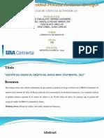 Articulo Cientifico Del Bbva Continental Riesgo de Crédito (1)
