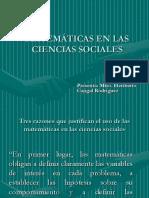 Matematicas en las ciencias sociales