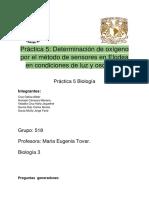 Práctica 7_ Determinación de Oxígeno Por El Método de Sensores en Elodea en Condiciones de Luz y Oscuridad
