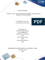 Unidad 3 - Fase 6 - Discusión Resolver Problemas y Ejercicios de Las Aplicaciones de Las Integrales.