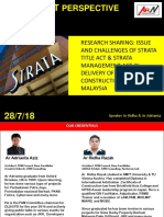 Research Sharing Issue and Challenges of Strata Title Act & Strata Management Act in Delivery of Construction Permit in Malaysia
