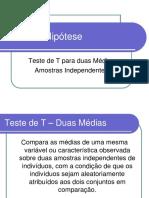 Aula2.2TestedeTduasMediasAmostrasIndependentes