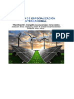 Curso Internacional Energias Renovables 2018