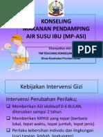 Materi Konseling MP-ASI