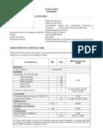 Especificaciones tecnicas gasolina