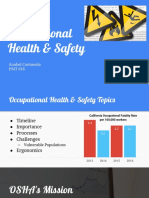 occupational health - hsci 616 presentation