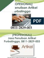[PROFESIONAL] Jasa Penulisan Artikel Purbalingga, WA/SMS/Telp 0811-2829-003