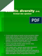 Genetic Diversity 5 6 Evolusi Dan Spesiasi