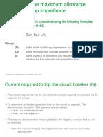 Earth Fault Loop Impedance Summary