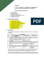 TDR - Propuesta Para Obras de Saneamiento 2016