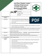 8.7.4.4 SOP Evaluasi Dan Tindak Lanjut Terhadap Pelaksanaan Uraian Tugas dan Kewenangan Klinis.docx