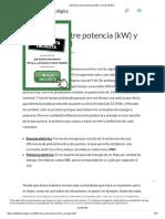 Diferencia Entre Potencia (KW) y Energía (KWh)