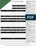 Firearms Worksheet