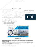 Current Affairs Today September 7 2018