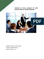 Capítulo 9 Autoridad de línea, personal de staff , delegación de poder de decisión y descentralización