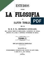 Estudios Sobre La Filosofía de Santo Tomás - Tomo I