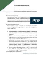 EPECIFICACIONES TECNICAS DE PROYECTO