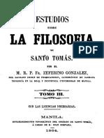 Estudios sobre la filosofía de Santo Tomás - Tomo III