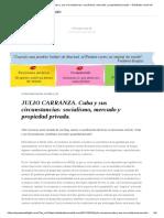 JULIO CARRANZA. Cuba y Sus Circunstancias.
