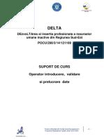 Suport de Curs Operator Introducere Prelucrare Validare Date