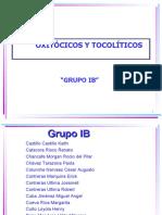 OXITOCICOS Y TOCOLITICOS