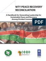 Community Peace Recovery and Reconciliation Handbook