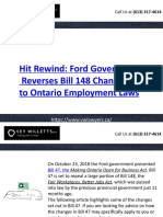 Hit Rewind - Ford Government Reverses Bill 148 Changes to Ontario Employment - Vwlawyers.ca