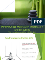Introduction to Mindfulness Information - Resources