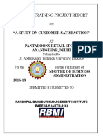 Rahul Rbmi Customer Satisfaction Pantaloon Final