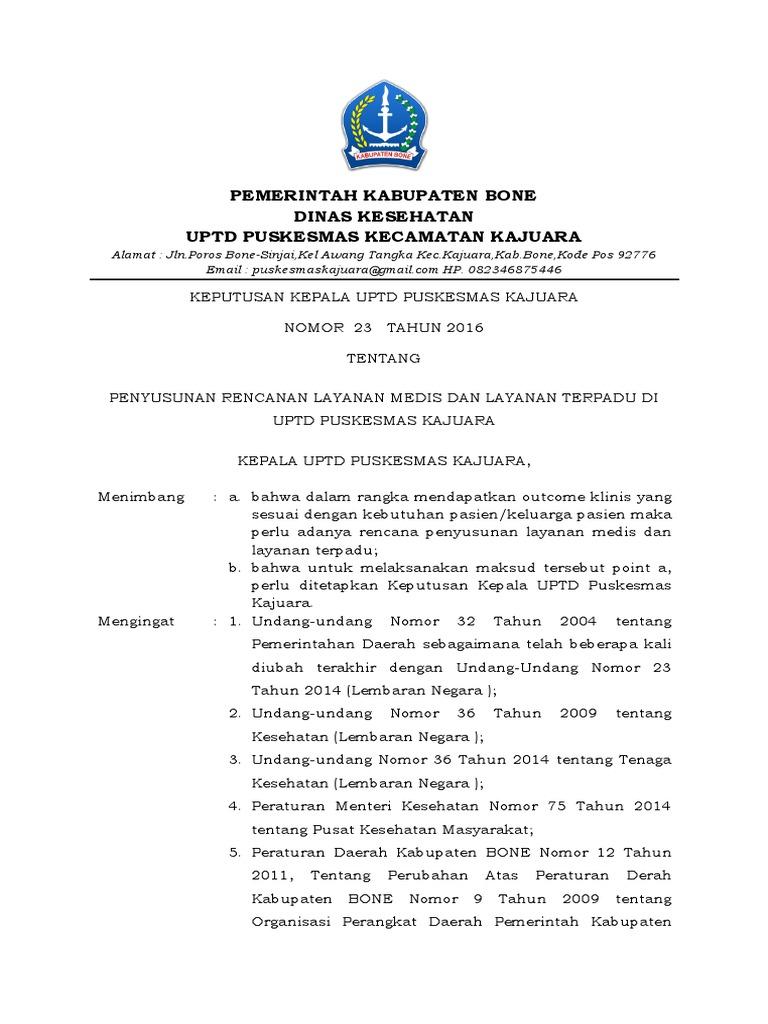 Kop Surat Dinas Pendidikan Kabupaten Bone - Contoh Kop Surat