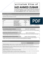 CV of Kazi Ahmed Zubair
