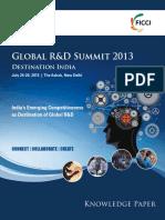 FICCI Battelle Knowledge Paper Global R&D Summit 2013[1]