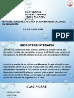 Curs 1 Hidrotermoterapie