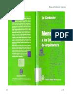 Le Corbusier - Mensaje a los estudiantes de arquitectura.pdf