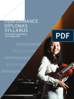 Performance Diplomas Syllabus - From 2019