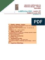 LAMPEA-Doc 2010 – numéro 32 / Vendredi 15 octobre 2010