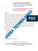 Single Phase Series Active Power Filter Based on 15-Level Cascaded Inverter Topology