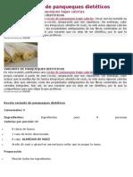 Receta Variante de Panqueques Dietéticos