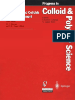 [Progress in Colloid and Polymer Science] M. Ed. Schwuger - Surfactants and Colloids in the Environment (1994, Not Avail)