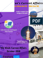 October 2018 4th Week Current Affairs Update