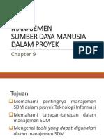 Manajemen Perencanaan SDM 2009