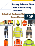 Workwear, Factory Uniforms, Work Clothing Suits Manufacturing Business