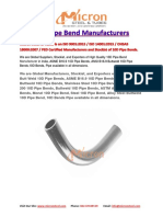 10D Pipe Bend Manufacturers