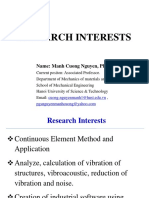 Cuong Nguyen Manh Research Interests
