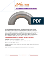 Buttweld 180 Degree Elbow Manufacturers