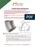 45 Degree Short Radius Elbow Manufacturers