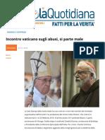 Incontro Vaticano Sugli Abusi, Si Parte Male